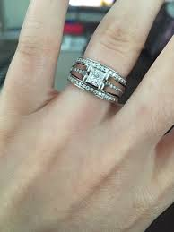 princess cut wedding set post pictures of your princess cut wedding sets or engagement rings