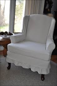 Wingback Chair Slipcover Pattern Furniture Fabulous Wingback Chair Slipcover Deals Navy Blue
