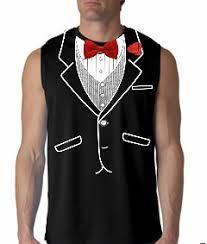 tuxedo tshirts mens all occasion formal sleeveless tuxedo shirt