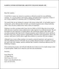 sample cover letter college graduate ideas in a reflective essay