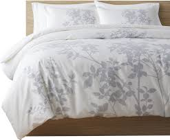 arrellano 100 cotton duvet cover set gray