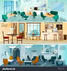 luxury hotel restaurant bar interior 3 stock vector 359549255