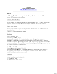 resume exles for managers adorable retail customer service manager resume sle for apple
