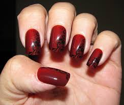 nail art red and black nailsigns exceptional image concept art