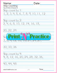 skip counting worksheets teach multiplication
