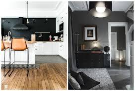 mur noir cuisine cuisine cuisine noir mur noir 1000 idées sur la décoration et