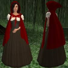 Red Riding Hood Costume Second Life Marketplace Little Red Riding Hood Costume
