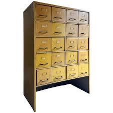 Vintage Industrial File Cabinet Vintage Industrial Steel Metal And Brass Multi Drawer Storage