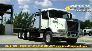 volvo tr volvo vhd tri axle roll off trash truck youtube