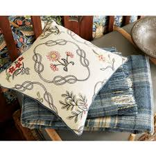 william morris strawberry thief kelmscott trellis cushion indigo