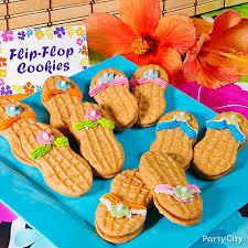 tropical nutter butter flip flop cookies idea luau treat ideas