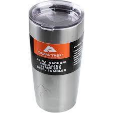 Best Stainless Steel Travel Mug by Ozark Trail 20 Ounce Double Wall Vacuum Sealed Tumbler Walmart Com