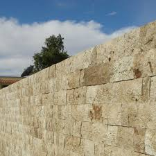 Split Face Stone Backsplash by Walnut Travertine Split Face Tile Qdisurfaces