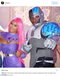 Starfire Costume 50 Cent And Ex Daphne Joy Dress In Costumes At Teen Titans
