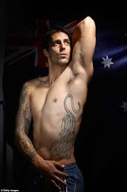 bodypainting and tattoos australian cricketer mitchell johnson