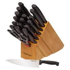 kitchen knives that never need sharpening farberware never needs sharpening 18 knife block set target