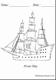 fantastic blackbeard pirate coloring pages with pirate ship