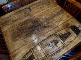 Wood Table Refinishing Gives Me An Idea For My Sewing Table Top Using My Drawer Full