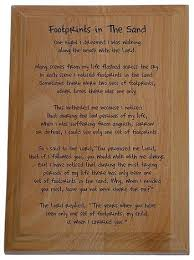 footprints in the sand gifts footprints in the sandpoem poem plaque recovery gifts and plaques