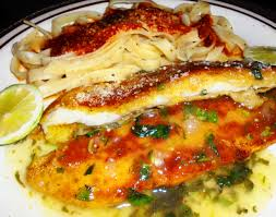 Main Dish With Sauce - orange roughy with lemon sauce