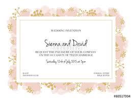 wedding invitation frame wedding invitation card with pink flower frame vector design