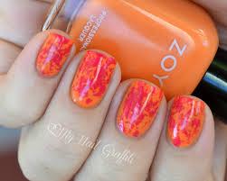 my nail graffiti saran wrap nail art baby nails