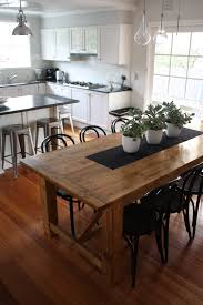 furniture snazzy brown table with black chairs for elegant dining