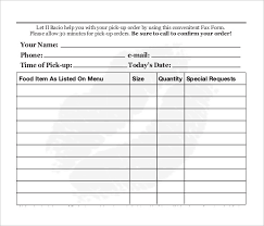 Restaurant Reservation Sheet Template Food Order Template 13 Free Excel Pdf Documents