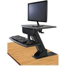kantek sts800 desk mounted sit to stand workstation 25 lb load