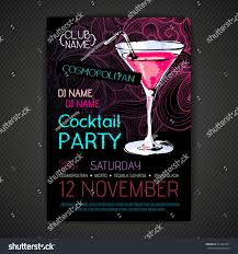 pink martini poster disco cocktail party poster stock vector 511042351 shutterstock