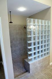 glass block bathroom ideas doorless shower design glass block showers doorless shower wedi