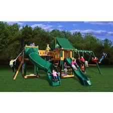 Big Backyard Savannah Playhouse by Gorilla Playsets Savannah Swing Set With Radical Tube Slide Bj U0027s