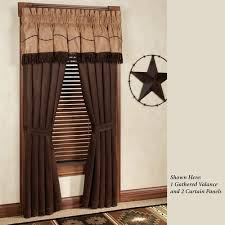 Chocolate Brown Valances For Windows Barbwire Western Window Treatment