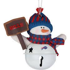 buffalo bills snowman bell with sign ornament nflshop