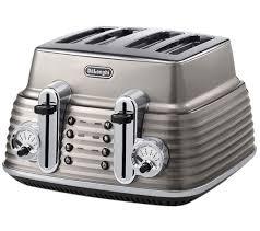 Delonghi Icona 4 Slice Toaster Black Buy Delonghi Scultura Ctz4003bg 4 Slice Toaster Champagne Free