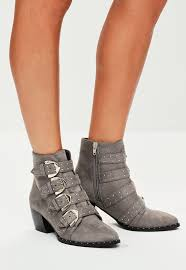 s grey boots uk s boots faux leather and suede boots missguided