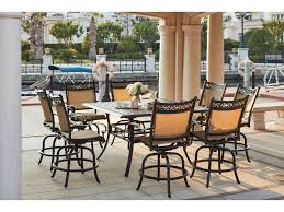 Patio High Dining Set - darlee outdoor living standard mountain view cast aluminum 9