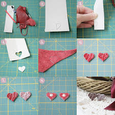cardboard earrings diy leather heart stud earrings pearls and scissors