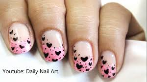 pink tips cute nail designs in pink nail polish nail art french