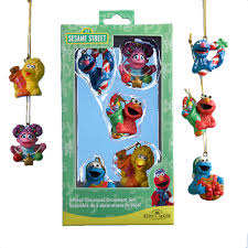 sesame 5 mini ornament set retrofestive ca