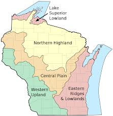 Physiographic Map Of The United States by Regions Of Wisconsin Wikipedia