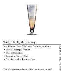 cocktail recipes vodka tall dark u0026 stormy twenty 2 vodka america u0027s most awarded