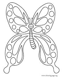 butterflies cute butterfly spots wings coloring