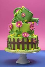 blue cupcake garden cake cookies and cakes pinterest