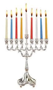 menorah candles hanukkah silver plated candle chanukah menorah 8