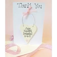 thank you bridesmaid cards personalised thank you card
