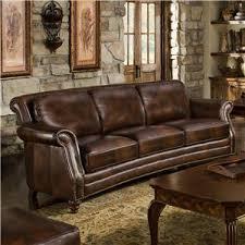 leather sofa with nailheads d u0027oro maxwell crescent curved leather sofa with nailhead trim