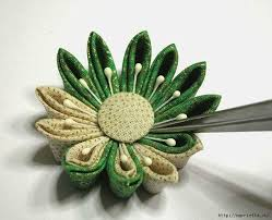 how to make kanzashi flower japanese hair ornaments simple
