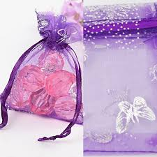 organza drawstring bags purple butterfly organza colors gift bags jewelry wedding favors
