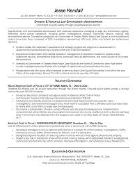 Law Enforcement Sample Resume by 100 Resume For Correctional Officer Credit Officer Resumes